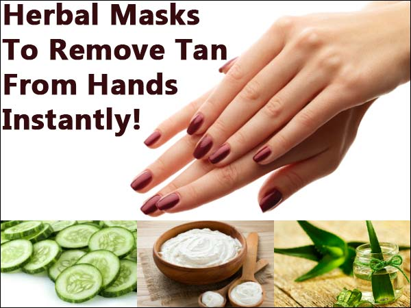 tanned hand remedies