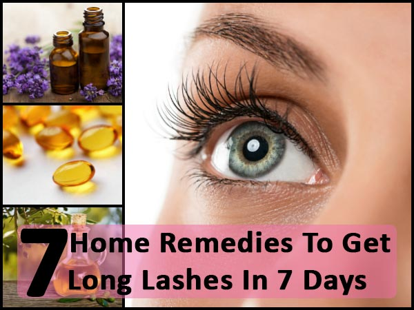 7 Home Remedies To Get Long Lashes In 7 Days! - Boldsky.com