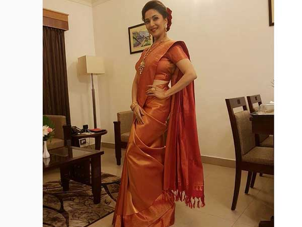 11 Most Desirable Sarees & Suits Of Madhuri Dixit In 2016