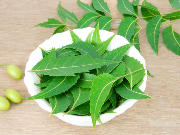 homemade tulsi and neem face pack