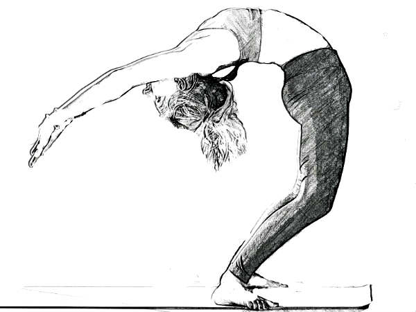 Ardha chakrasana for digestion