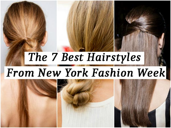 Magnificent The 7 Best Hairstyles From New York Fashion Week Boldsky Com Hairstyles For Women Draintrainus