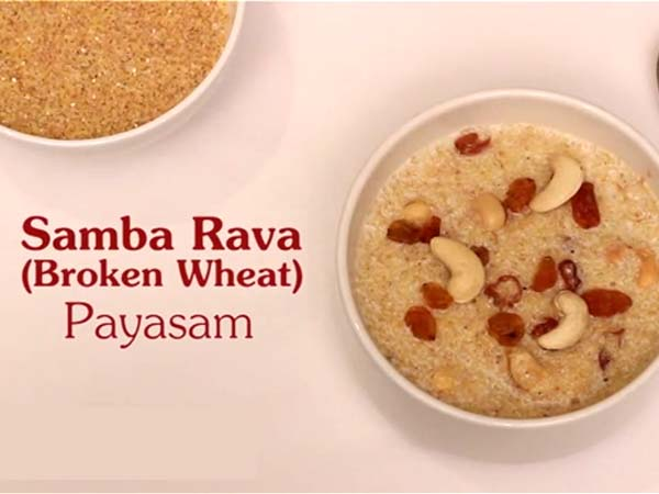 Samba Rava Or Broken Wheat Payasam Or Navratri Video