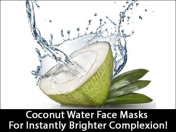 coconut water face mask