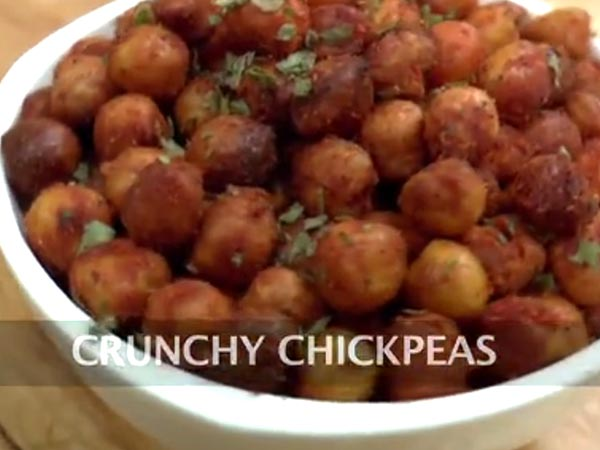 how to make crunchy baked chickpeas