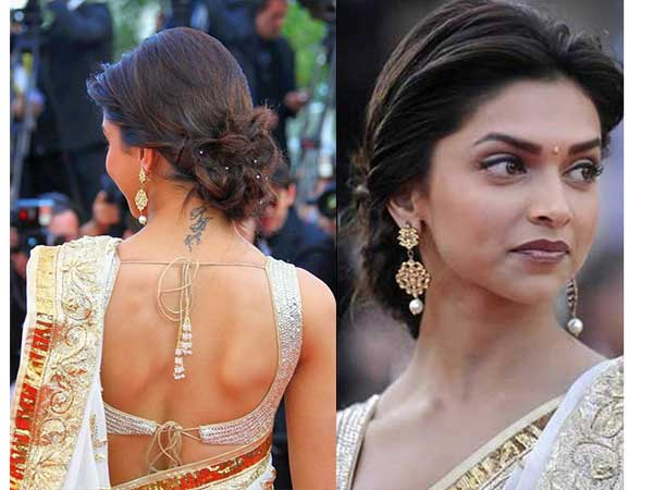 15 Deepika Padukone Hair Bun Styles You Can Try For Karva ...
