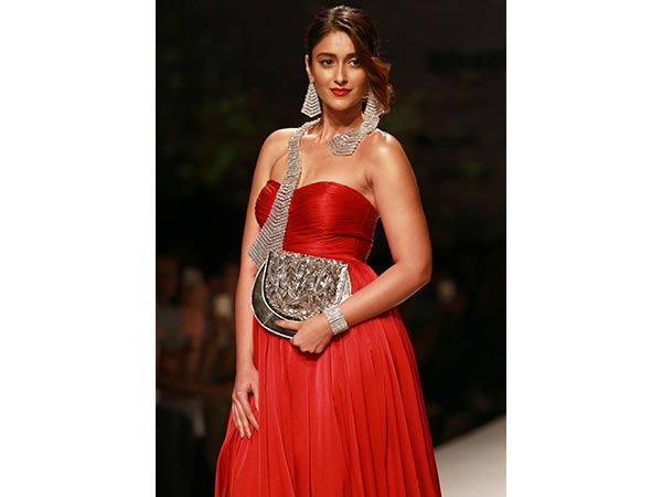 Ileana D'Cruz Super Radiant In Red #AIFW