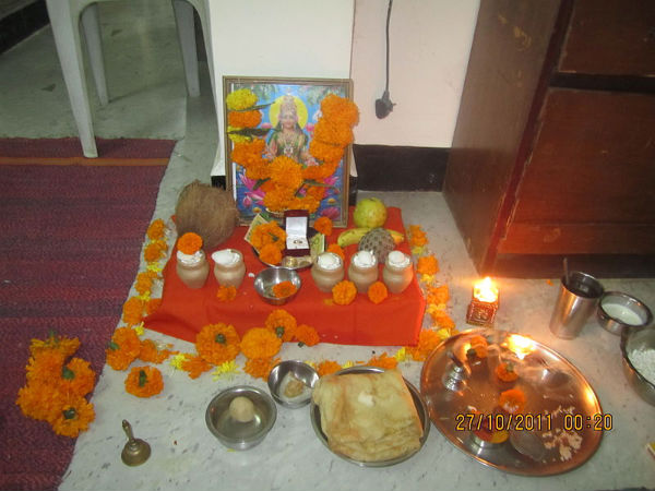 procedure for lakshmi puja for diwali