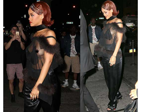 Rihanna Doesn't Like To Wear Bra?