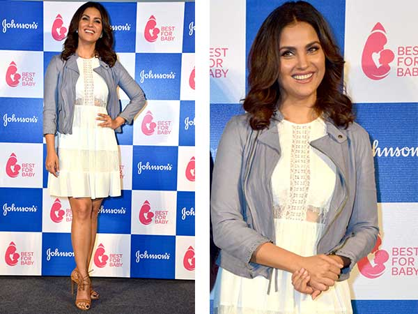 Lara Dutta Sports Beautiful White Dress At The Launch Of Best For Baby Youtube Channel