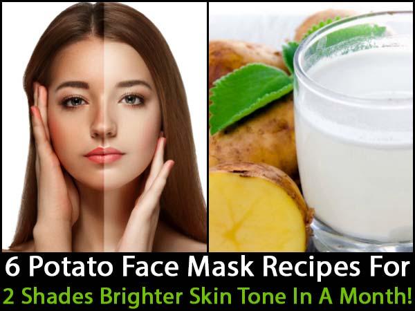 6 Potato Face Mask Recipes For 2 Shades Brighter Skin Tone ...