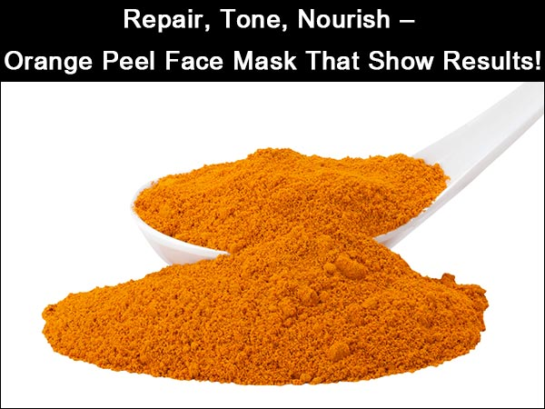 Think it's orange facial mask like