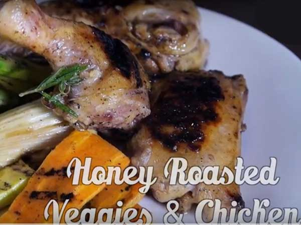 Honey Roasted Vegetable Chicken [Video]