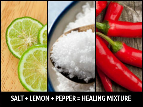 Healing Power Of Salt, Lemon And Pepper