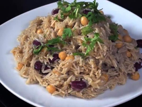 Middle Eastern Rice With Black Beans And Chickpeas ...