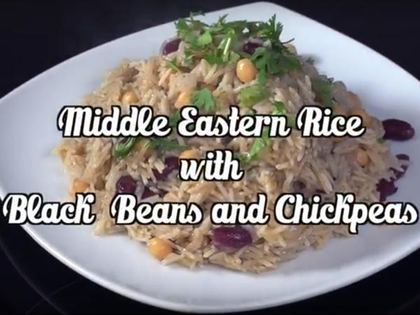 Middle Eastern Rice With Black Beans And Chickpeas - Boldsky.com