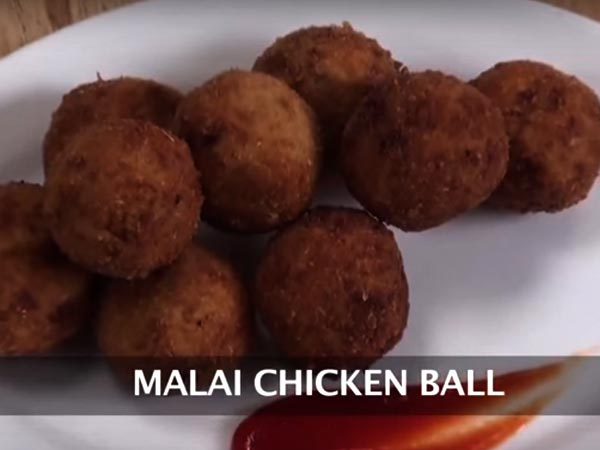 how to prepare malai chicken balls