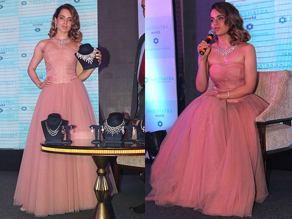 Kangana Ranaut Looks like A Doll In This Beautiful Blush Pink Gown