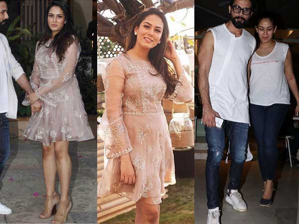 Mira Rajput Flaunts Her New Mommy Figure In An Anita Dongre Piece