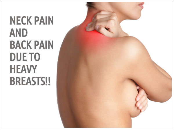 Desribe back pain from breasts