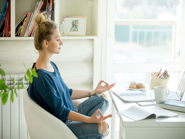 meditation office. How To Meditate At Your Desk | Do Meditation Office Tips, Quick Techniques Work Meditating While - Boldsky.