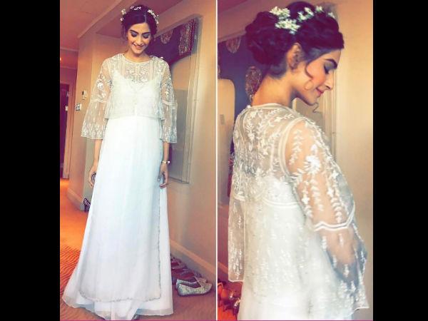 Sonam Kapoor Looks Like An Angel In Anita Dongre
