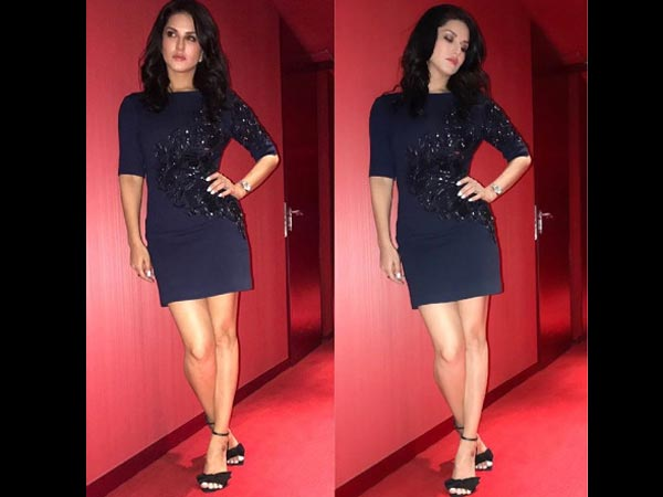 Sunny Leone's Hot Little Black Dress