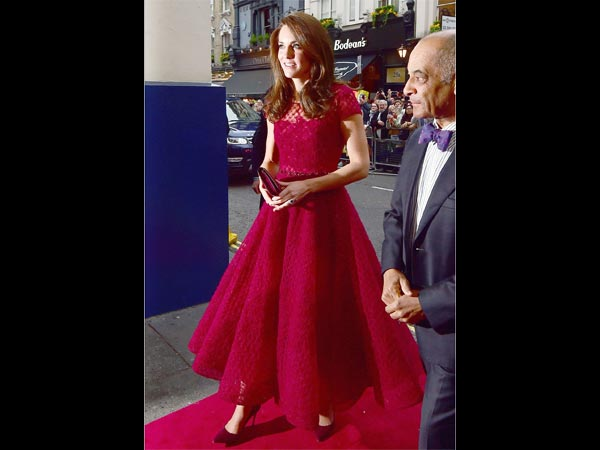 Kate Middleton In Marchesa Notte