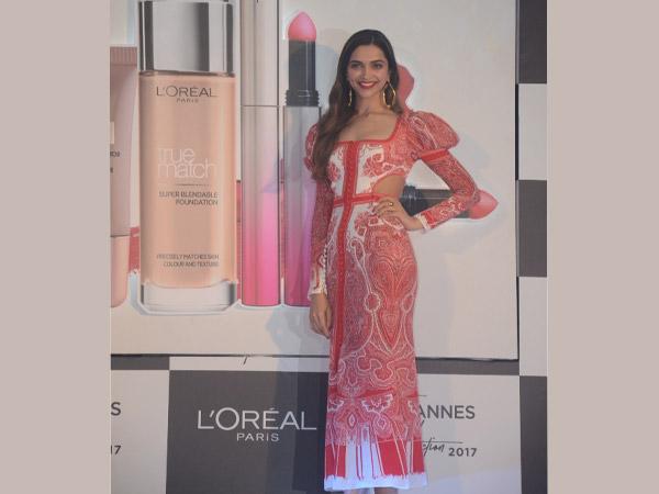 Deepika's Look Unveiling At The Press Meet For Festival De Cannes