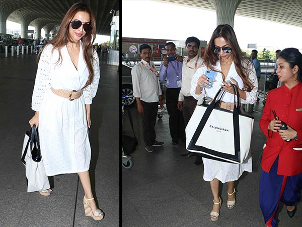 malaika arora khan spotted at the airport