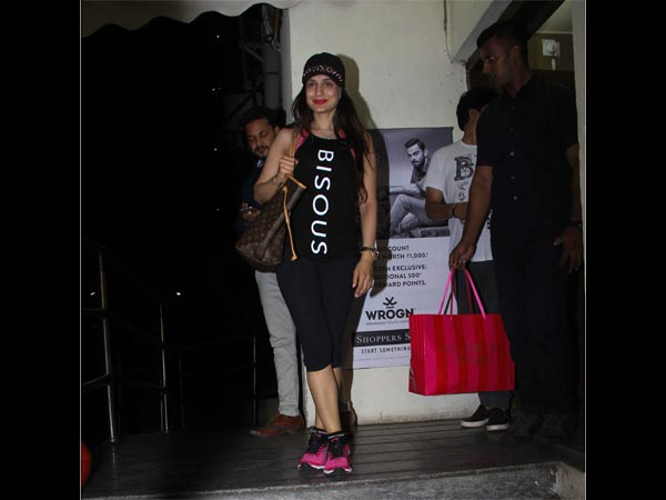 ameesha patel at movie theatre