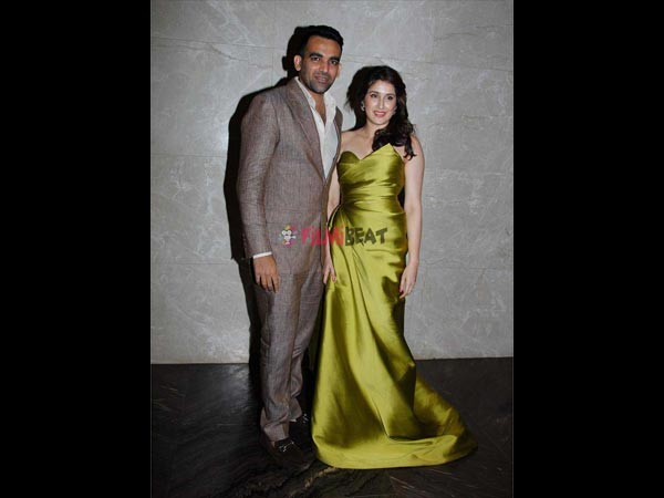 Zaheer & Sagarika Looking Elegant In Their Engagement Attires