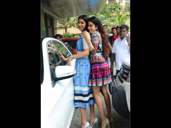 Beauty Redefined; Sridevi With Daughters At Mom's