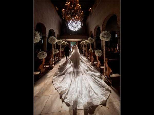 YOU WON'T BELIEVE! Swarovski Heir's Wedding Gown Is Worth 5.7 Crore