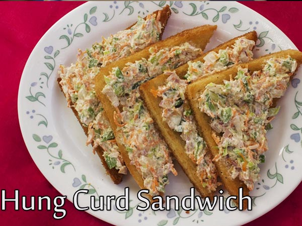 hung curd sandwich recipe