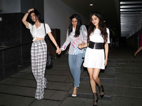 sridevi with her daughters spotted at bandra