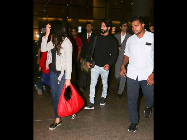 TWINNING! Shahid And Mira In Matching Airport Wear