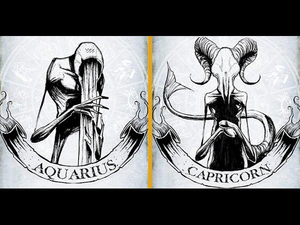 Artist Shows The Dark Side Of Zodiac Signs With Creepy