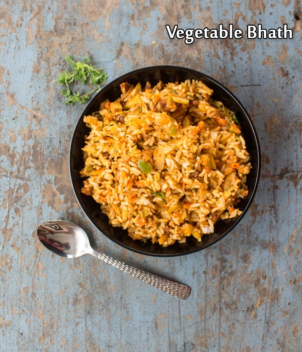 Vegetable bhath recipe how to make karnataka style vegetable bhath vegetable bhath recipe forumfinder Gallery