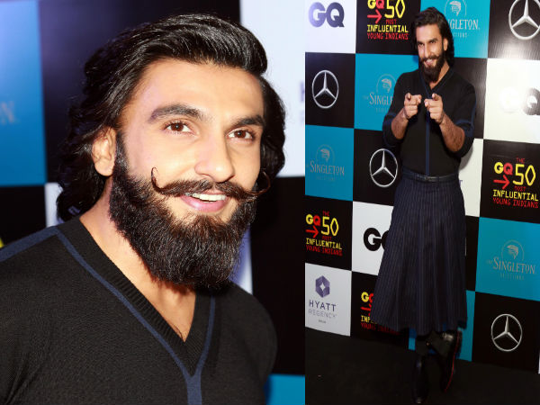 ranveer singh at the gq most influential young indians