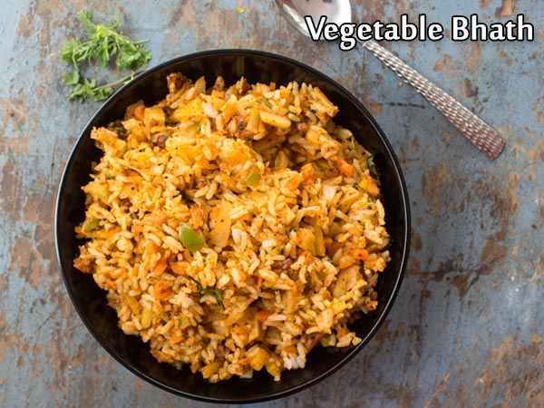 Vegetable Bhath Recipe: How To Make Karnataka-style Vegetable Bhath