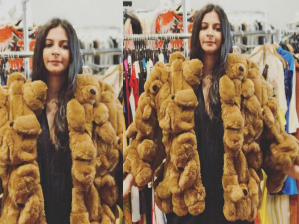 Rhea Kapoor In A Teddy Ensemble While Shopping In New York