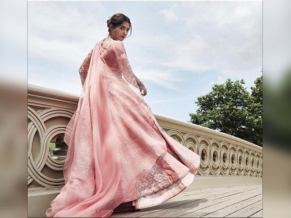 sonam kapoor featured in bazaar bride india