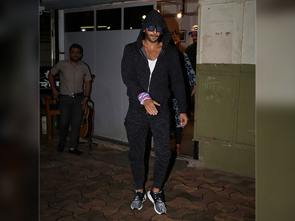ranveer singh at a salon