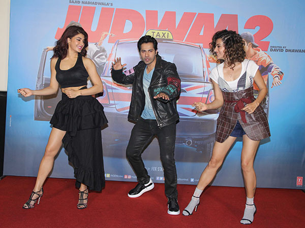 judwaa 2 cast at the trailer launch
