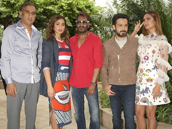 baadshaho cast during promotion in new delhi