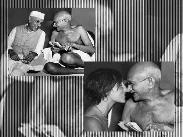 Fake Pics Of Gandhi Floating On Social Media