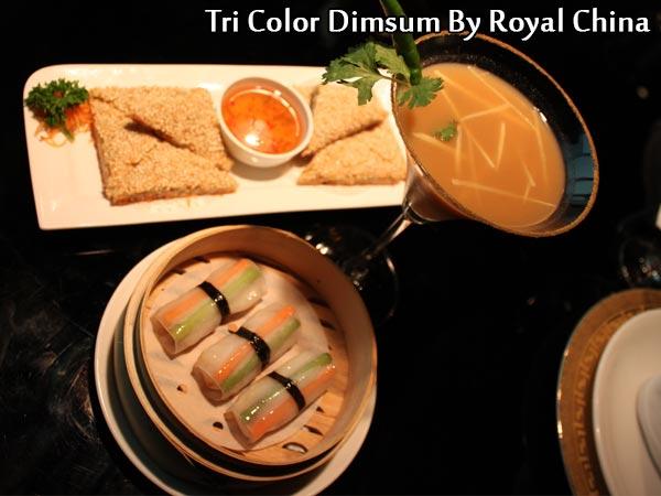 Tri-colour Fish Dumplings