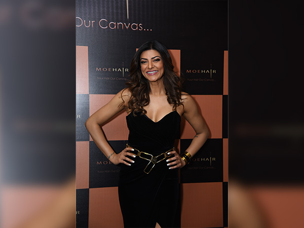sushmita sen at moehair brand launch