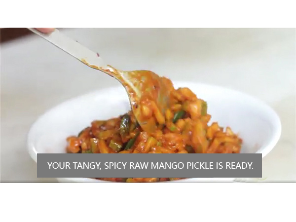 Raw mango pickle recipe